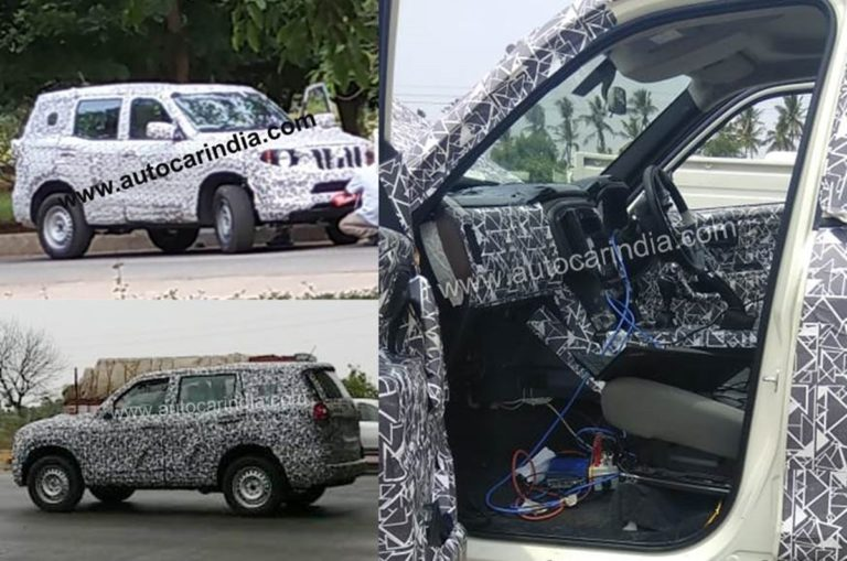 Next-Gen Mahindra Scorpio Interiors Spy Images Revealed