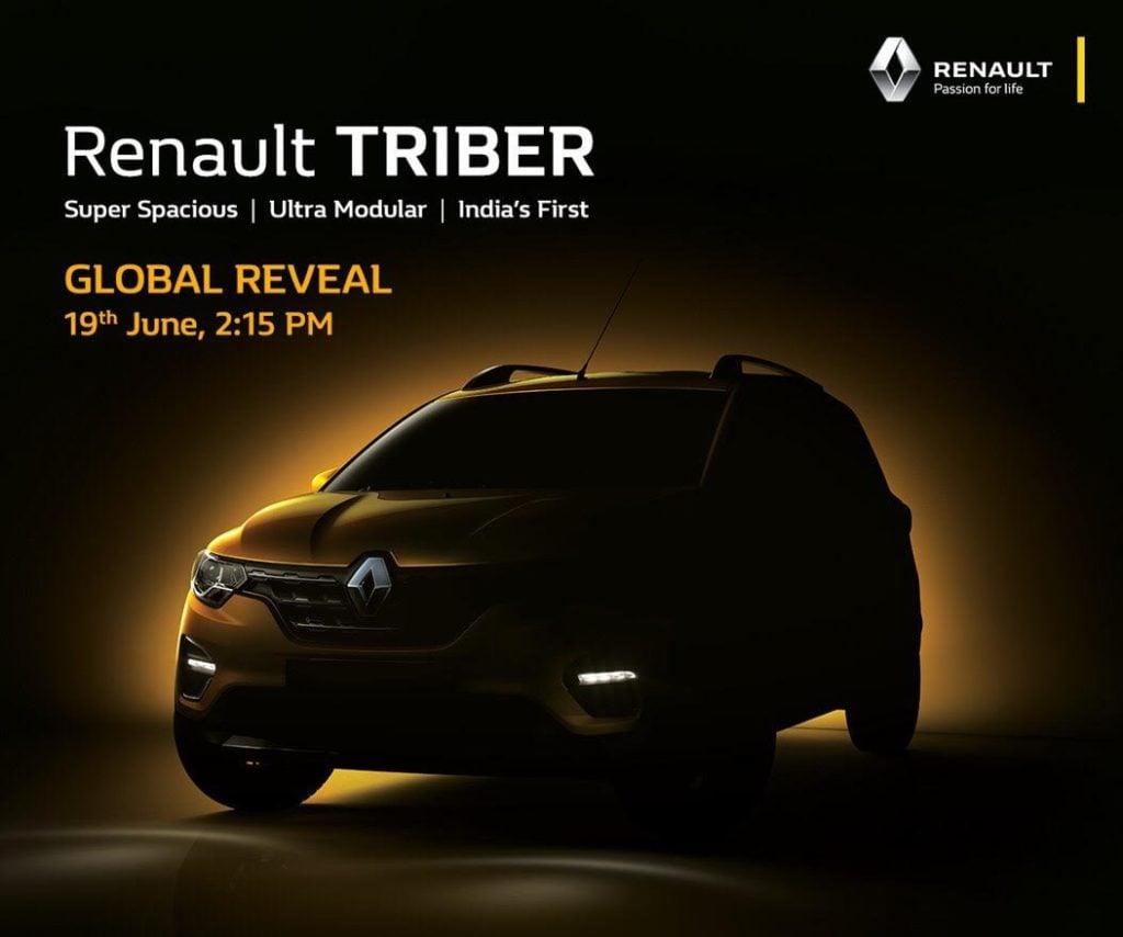 Renault Triber teased yesterday