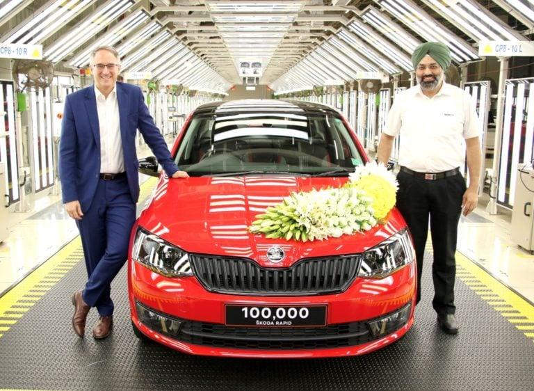 Skoda India completes 100,000 sales milestones for Rapid