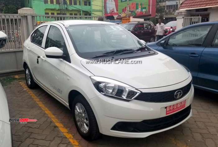 Tata Tigor EV spied at a dealership – Launch likely in 2019
