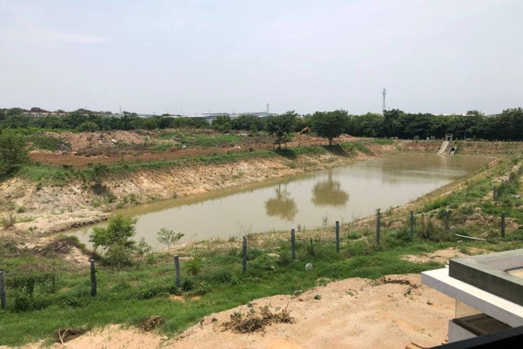 Rainwater harvesting at the Bidadi Plant