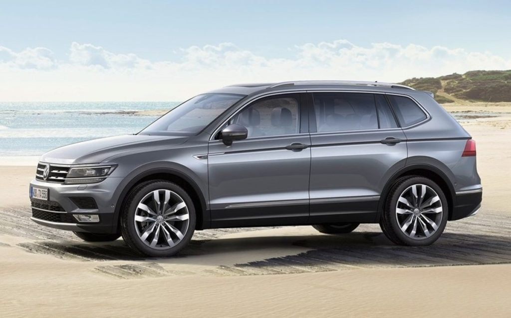 Volkswagen Tiguan Allspace comes with three rows of seats