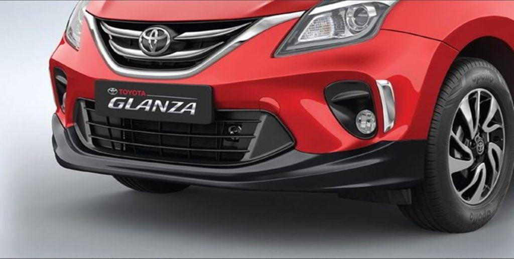 Toyota Glanza Accessories - Front Bumper Spoiler