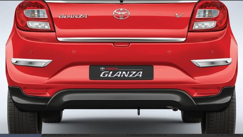 Toyota Glanza Accessories - Rear Bumper Spoiler