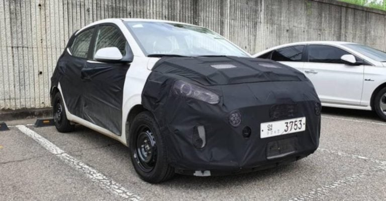 2020 Hyundai Grand i10 New Spy Shots – Gets Projector Headlamps And LED Fog Lights