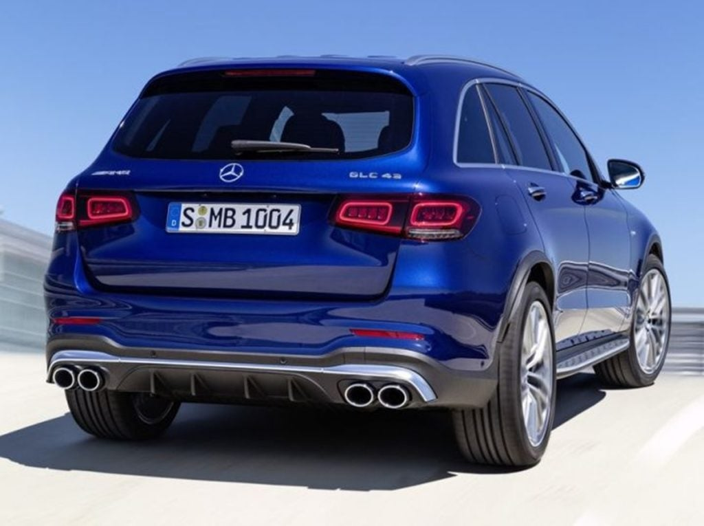 Rear profile of the new Mercedes GLC 43 AMG