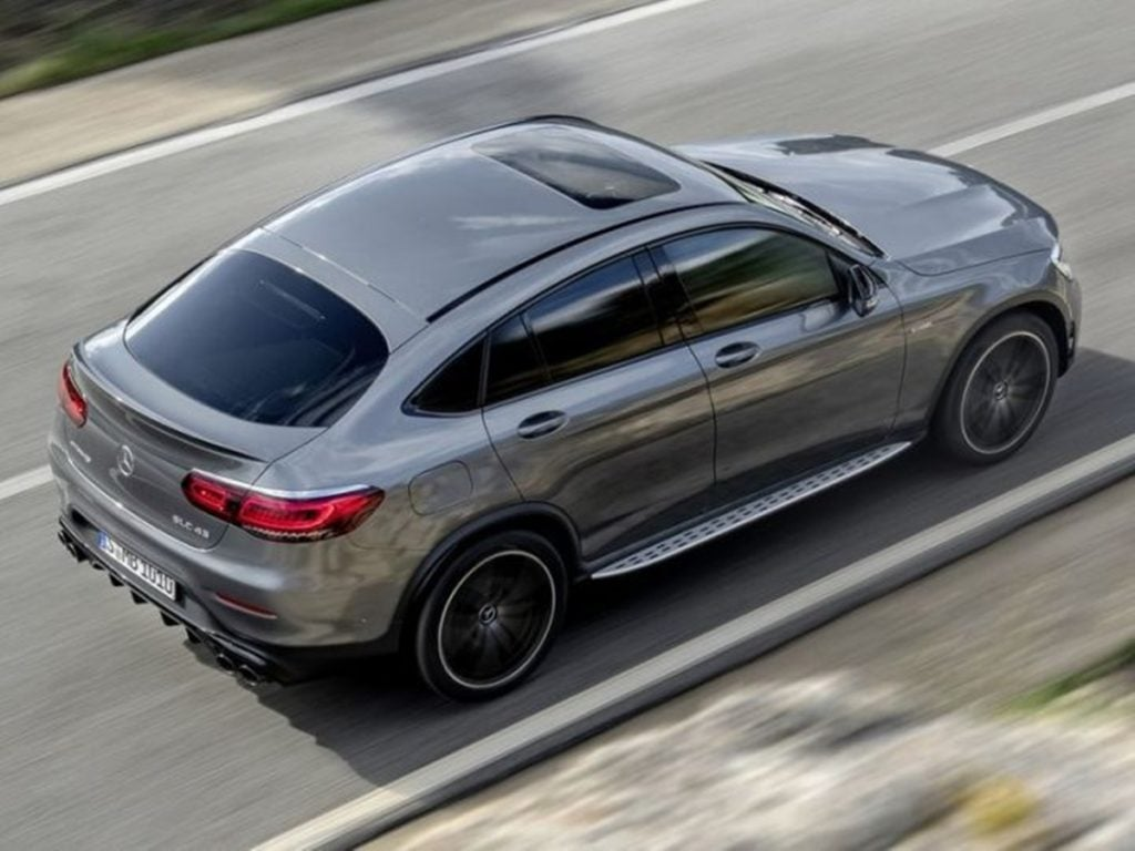 The Mercedes GLC 43 AMG Coupe rear quarter