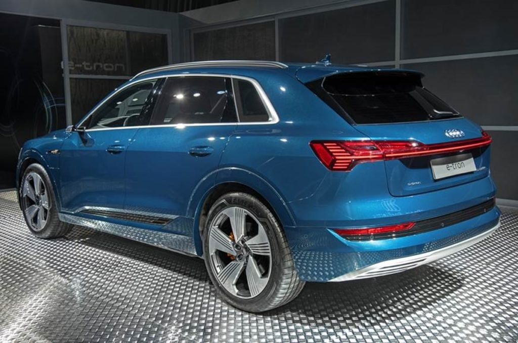 Rear angle of the e-Tron