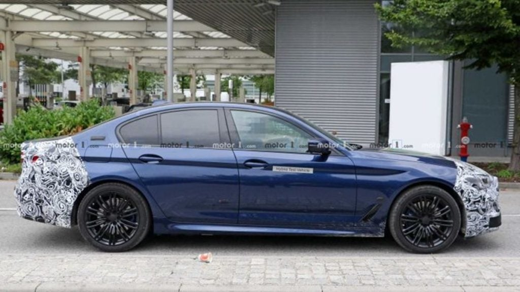 Side profile of the new BMW 5 series