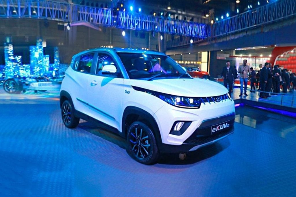 Mahindra eKUV100, one of the homegrown upcoming EVs in India