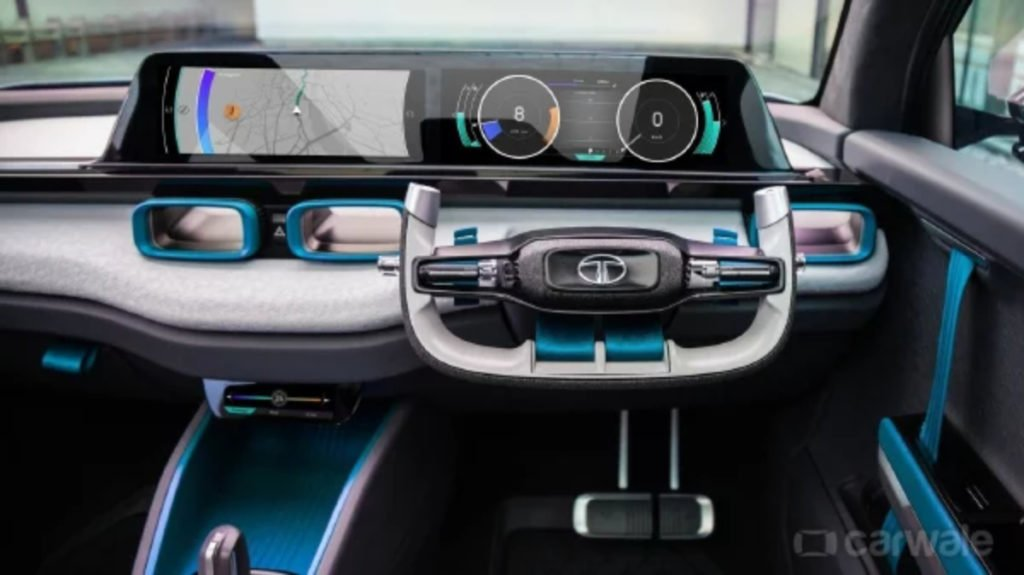 Tata H2X concept interiors