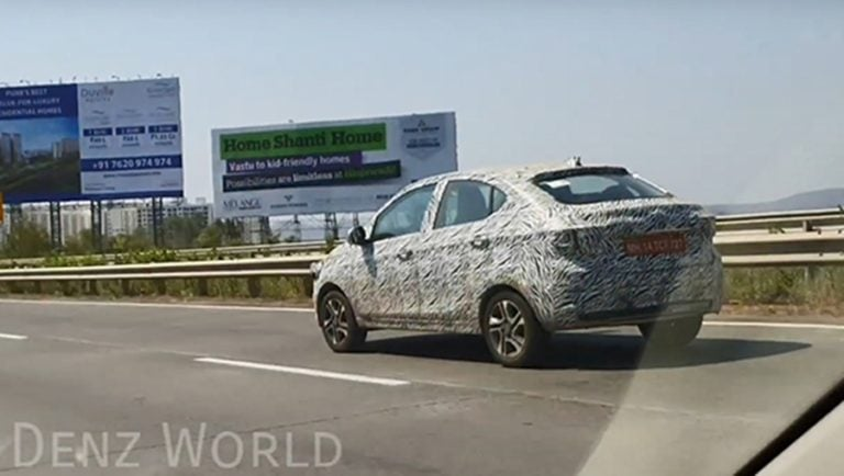 Tata Tigor BS-VI Variant Spied doing High Speed Testing outside of Pune