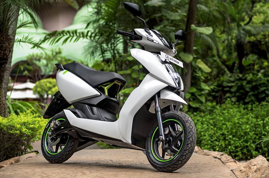 Ather 450 electric scooter.