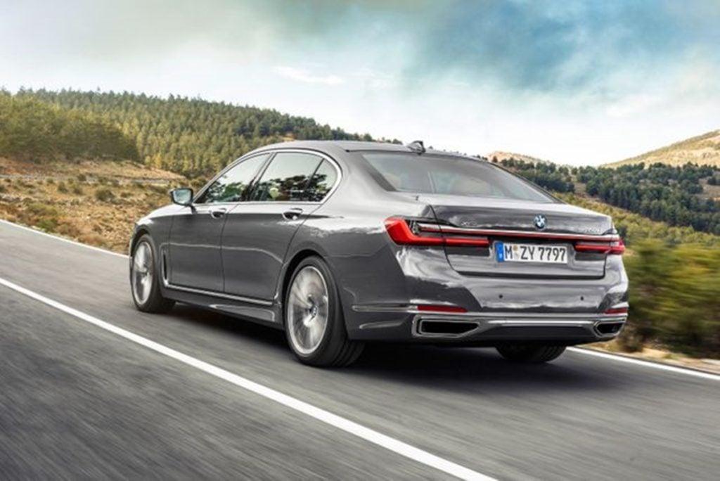 BMW 7 Series rear profile