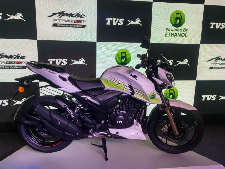 TVS launched the ethanol powered Apache, one of the alternative sources of fuel in India