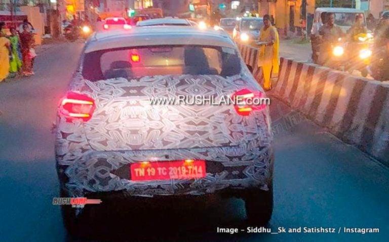2020 Renault Kwid New Spy Shot Reveals C Shaped LED Tail Lights