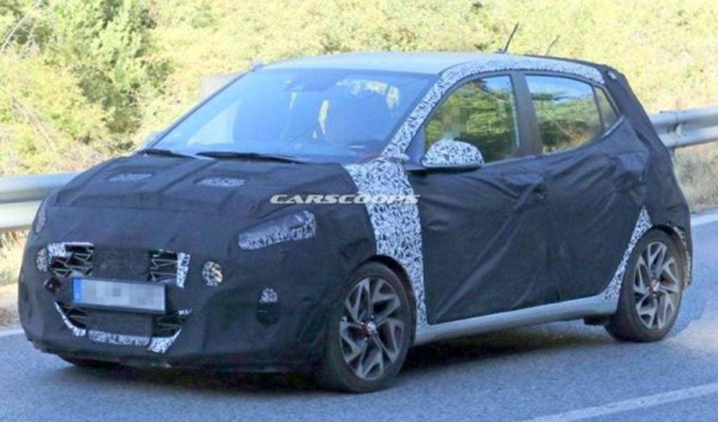 Hyundai i10 N spotted testing in Europe