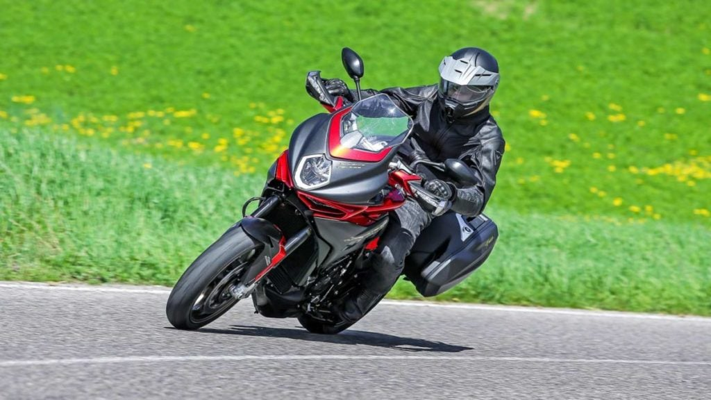 It borrows styling elements from the rest of the MV Agusta family