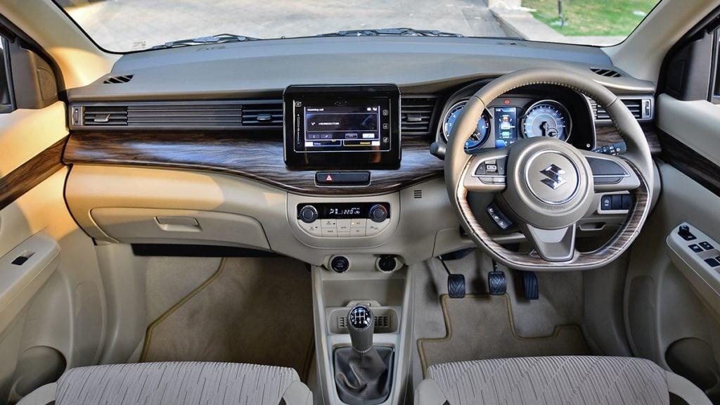 Maruti Suzuki Ertiga interiors