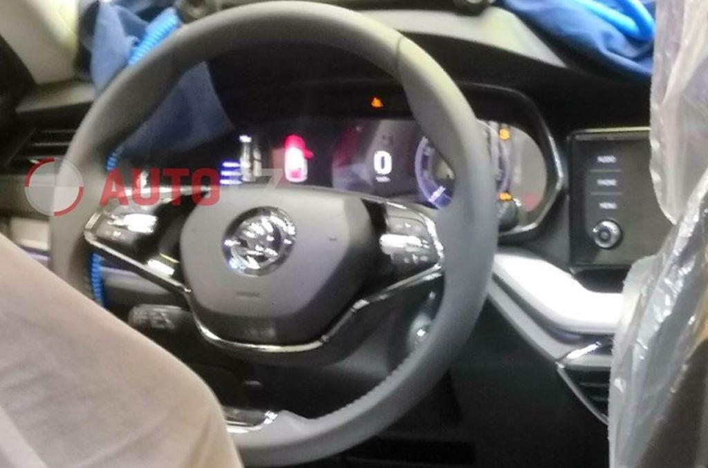 next-gen Skoda Octavia gets two-spoke steering wheel