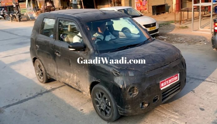 New Maruti WagonR Spy Shots Might Be Of the Electric Version – Report