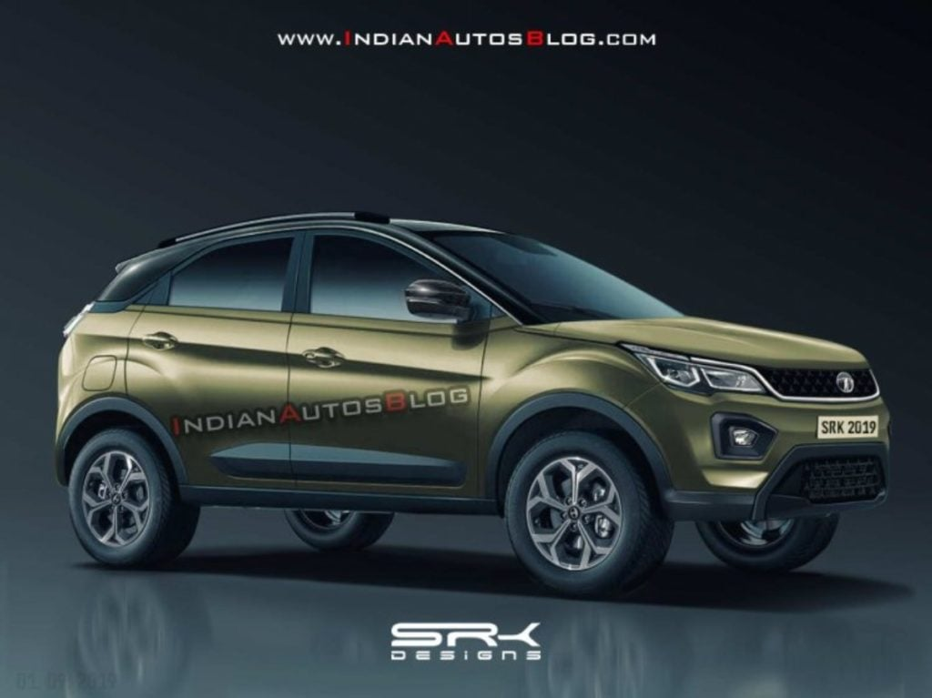 2020 Tata Nexon Facelift Rendering Looks Amazing