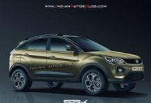 2020 Tata Nexon Facelift Rendering image