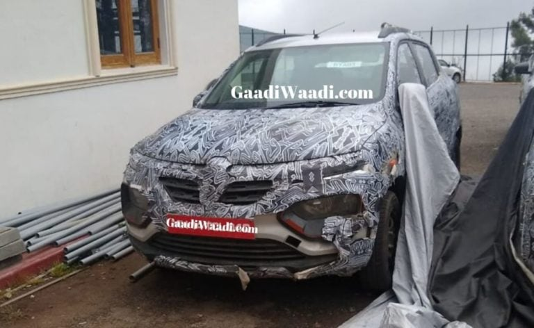 New Renault Kwid Climber Facelift Spied Testing In India