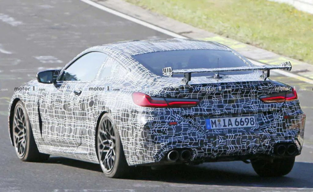 The BMW M8 also gets a massive rear wing on the boot