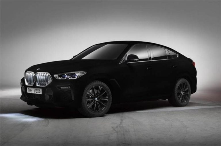 BMW X6 Finished In 'Vantablack'  – The World's Blackest Car