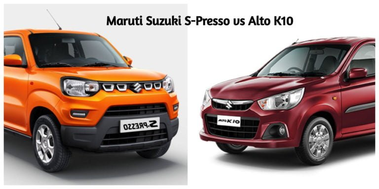 Maruti Suzuki S-Presso vs Alto K10 – Specification Comparison!