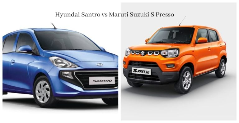 Maruti Suzuki S Presso vs Hyundai Santro – Specification Comparison