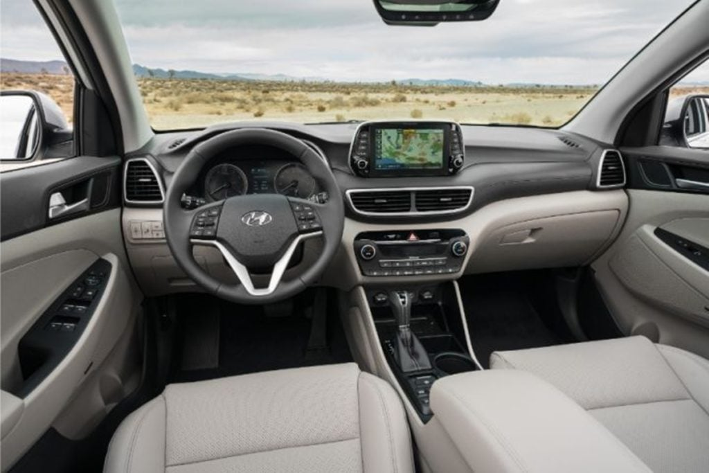 Hyundai Tucson facelift interiors.