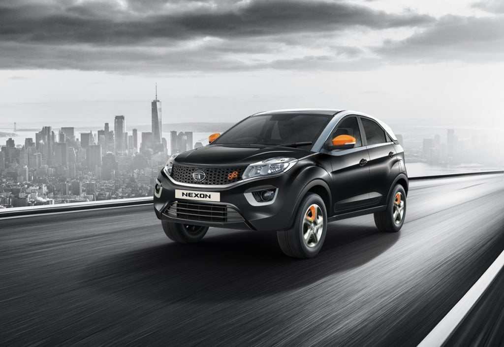 The Tata Nexon KRAZ edition gets several tangerine highlights on the exteriors and the interiors
