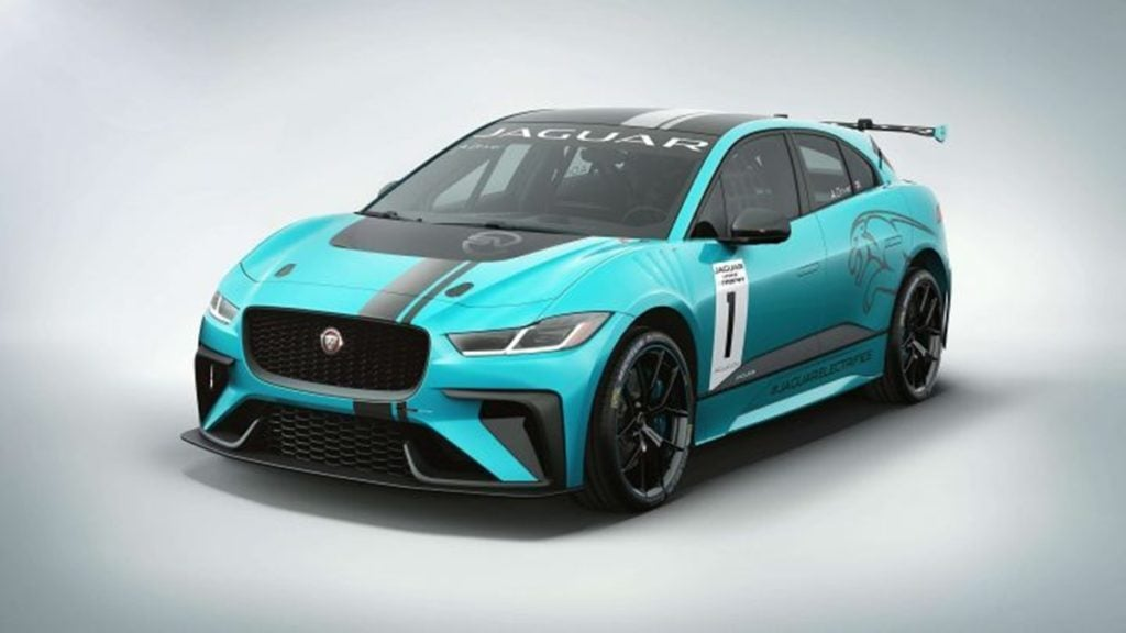 This however is the Jaguar I-Pace eTrophy which has been used for representation only