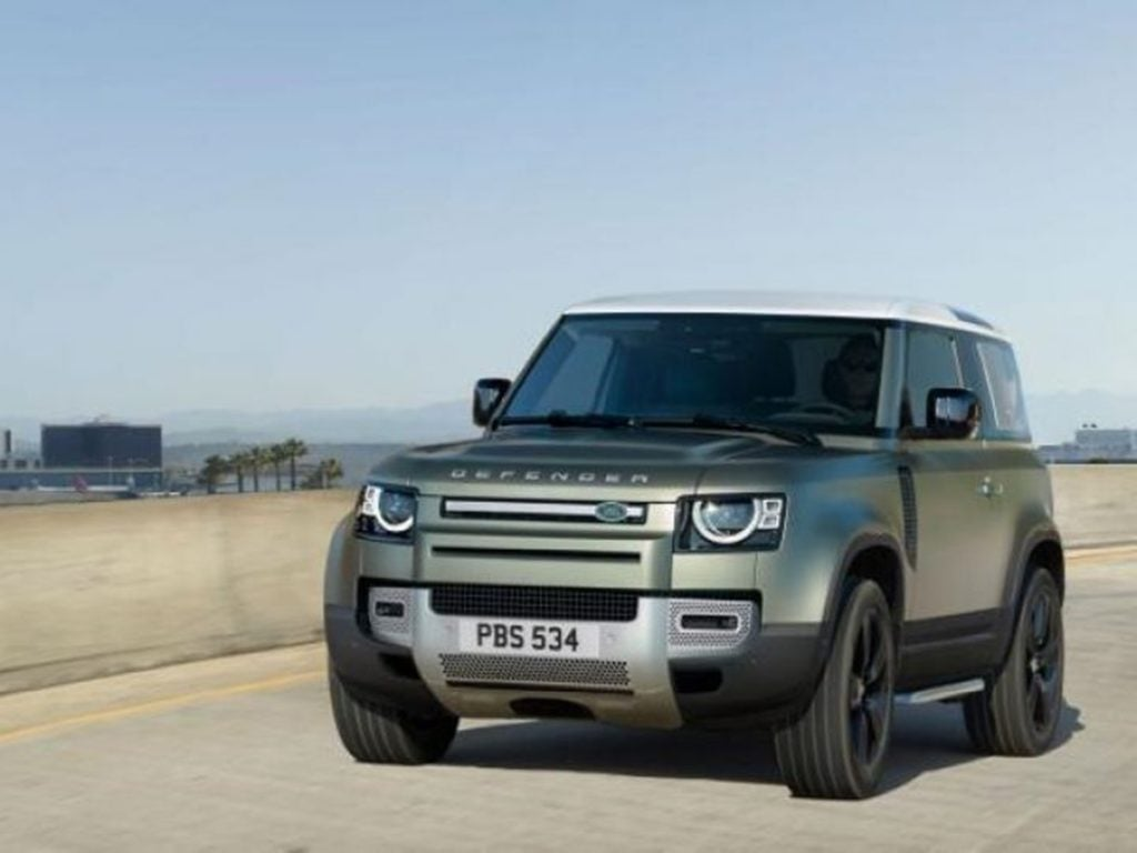 The Land Rover Defender retains its classic boxy profile