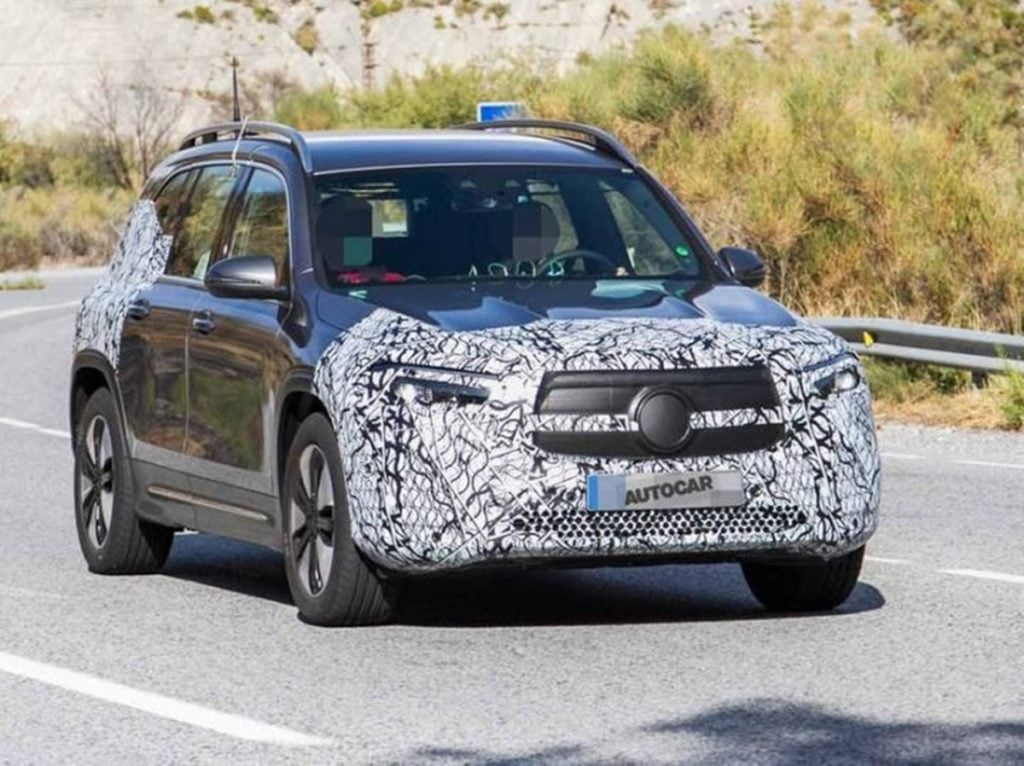 Electric Version of the GLB - the Mercedes GLB - spotted testing in Europe