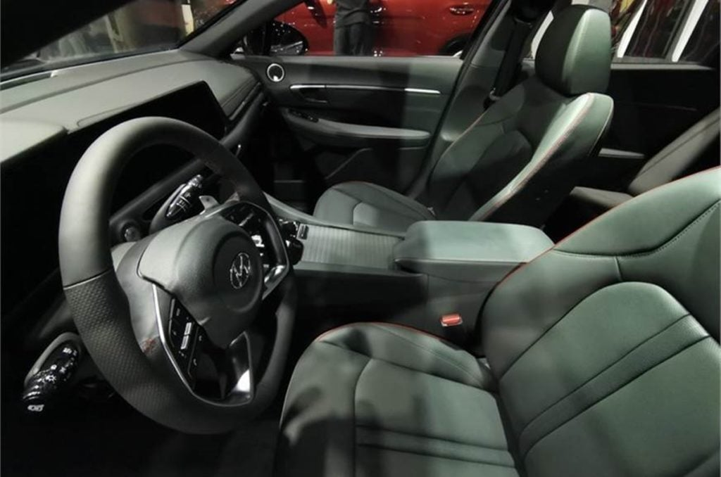 It also gets a new steering wheel and the design is more Kia Seltos-like