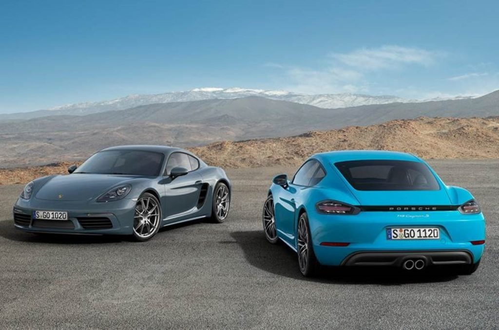 The Porsche 718 Cayman and Boxster could have electric versions in the future