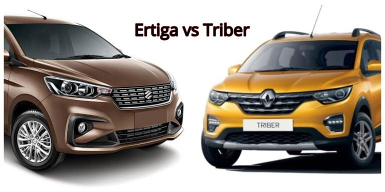 Renault Triber vs Maruti Suzuki Ertiga – Specification Comparison