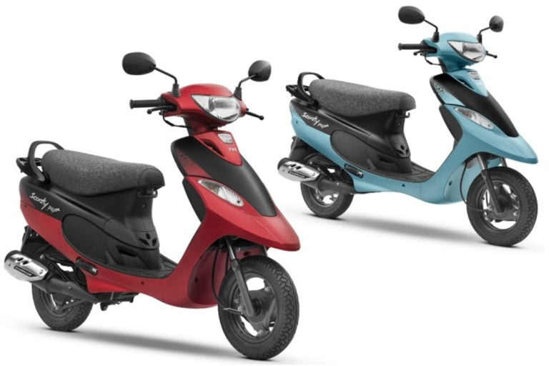 TVS Scooty Pep Plus launched with new Matte Color Options!