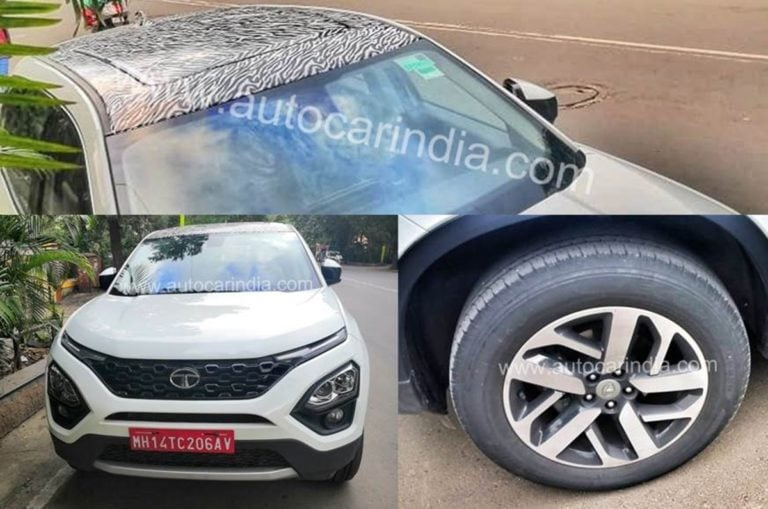New Top-Spec Tata Harrier with Panoramic Sunroof and 18-inch wheels Spied!