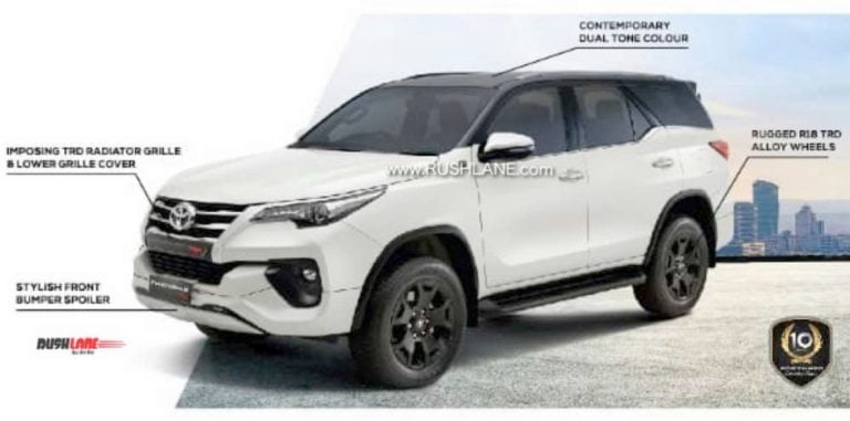 Toyota Fortuner TRD Sportivo Brochure Leaked Ahead Of Its Launch