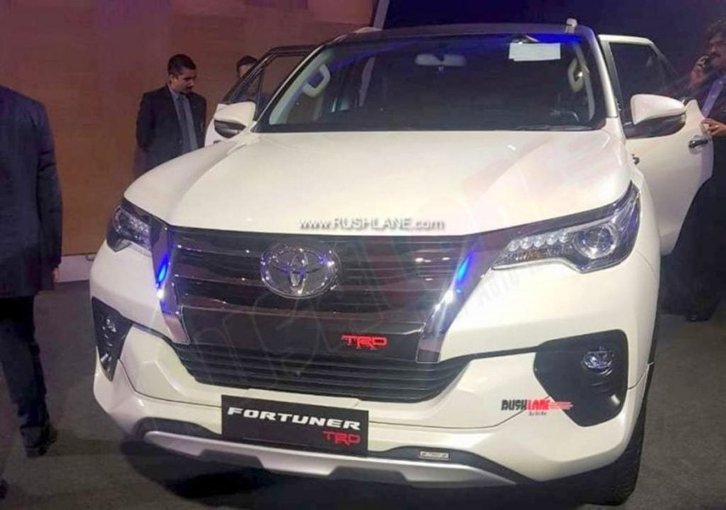 Toyota Fortuner TRD Sportiva showcased to dealers earlier, before launch in India