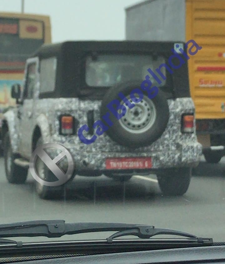 2020 Mahindra Thar Spied Again; Launch Soon?
