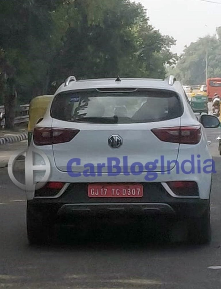 MG eZS Electric SUV Spotted Testing in Delhi Undisguised!