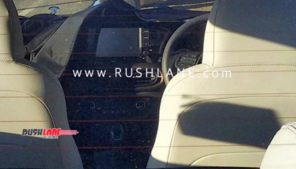 Interior spy shot of the next-gen Hyundai Xcent