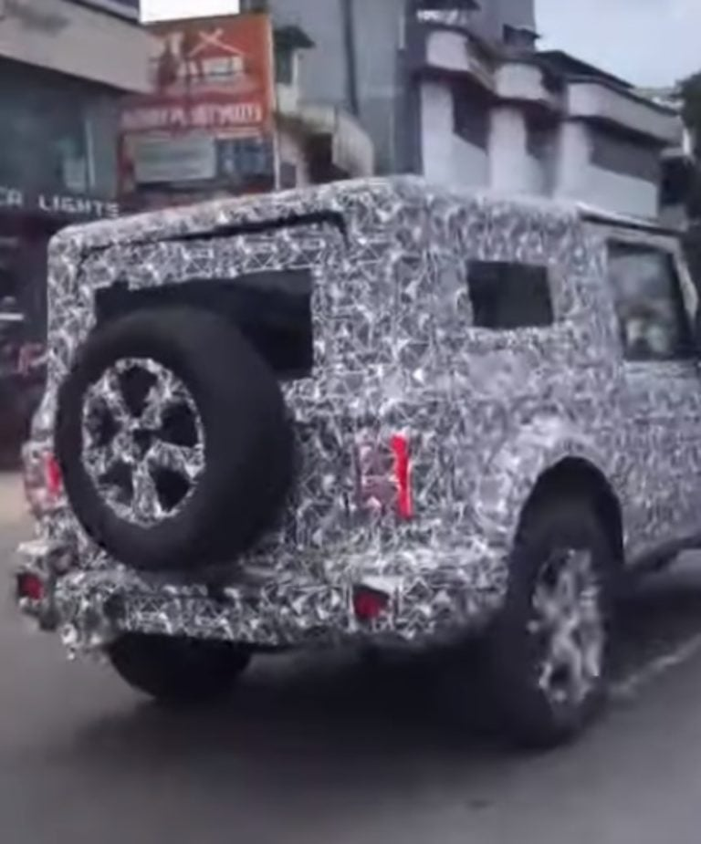 2020 Mahindra Thar Spied With 17-inch Alloy Wheels And LED Taillights