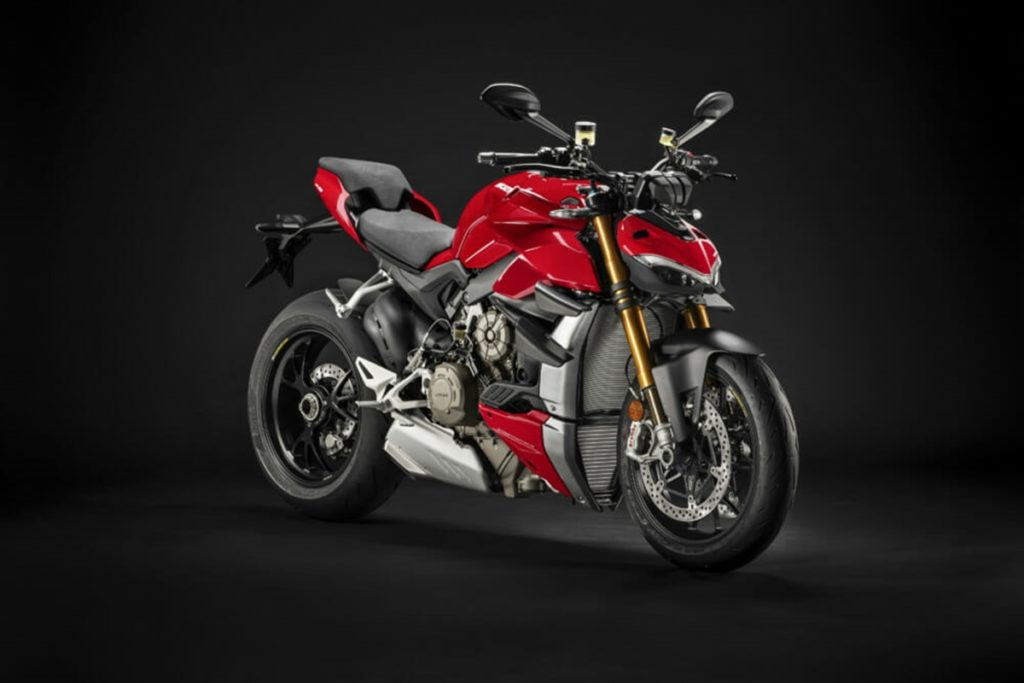 The Ducati Streetfighter V4 has the best power-to-weight ration in the class with 211PS and weighing just 178 kg dry.