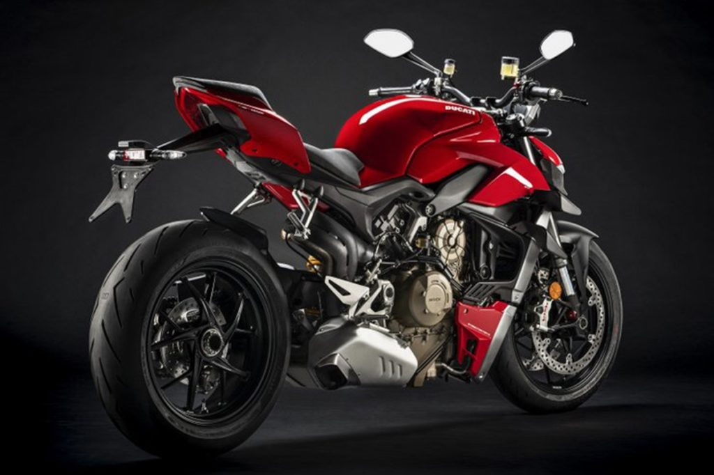The Ducati Streetfighter has the best power-to-weight ration in the class with 211PS and weighing just 178 kg dry.